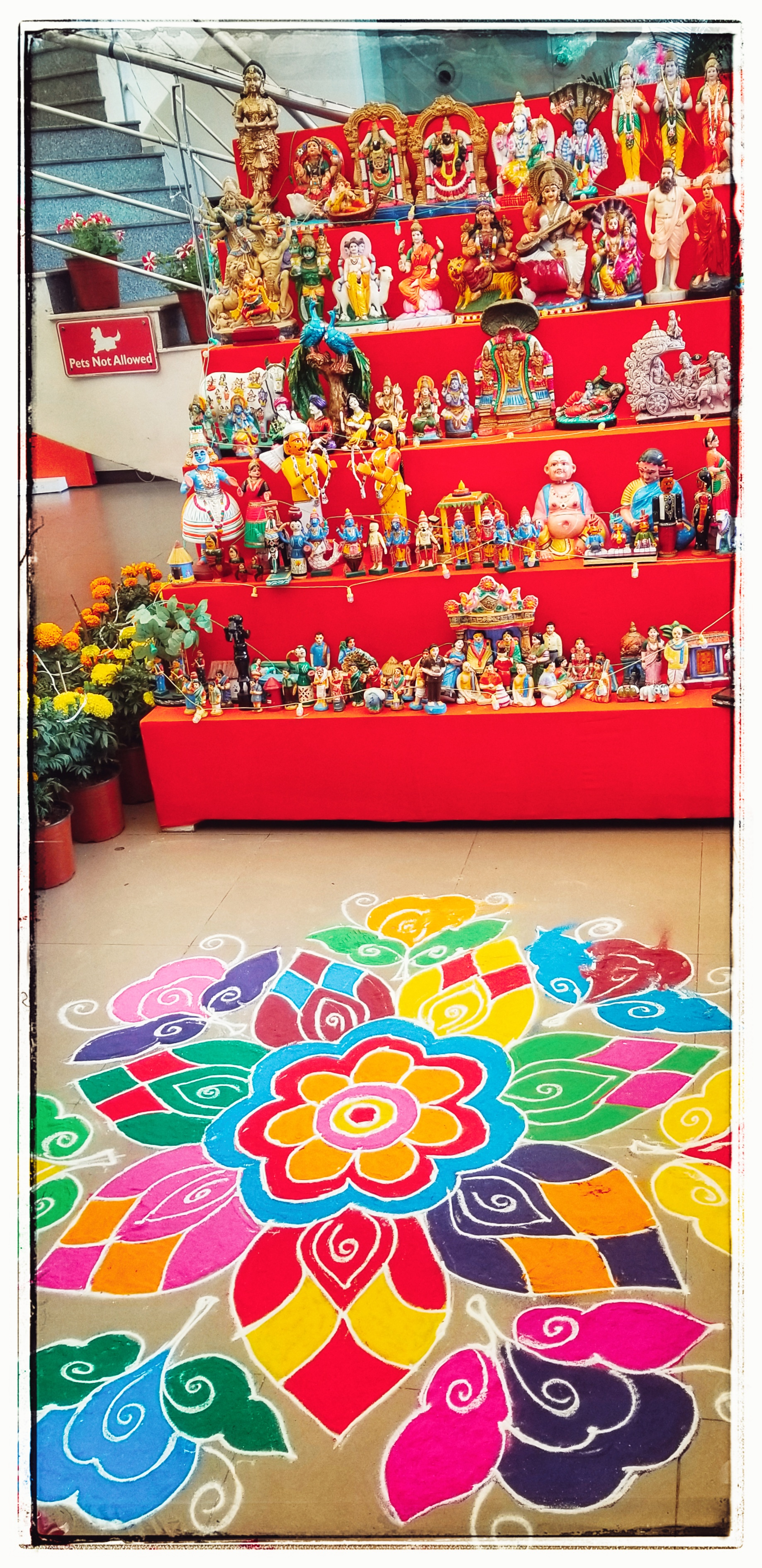 Pongol and many of the 300,000 gods that the Hindus worship.