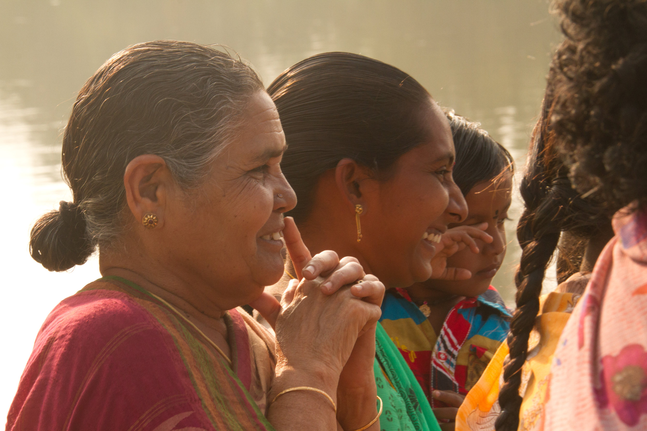 The local women were so happy to get clean water.