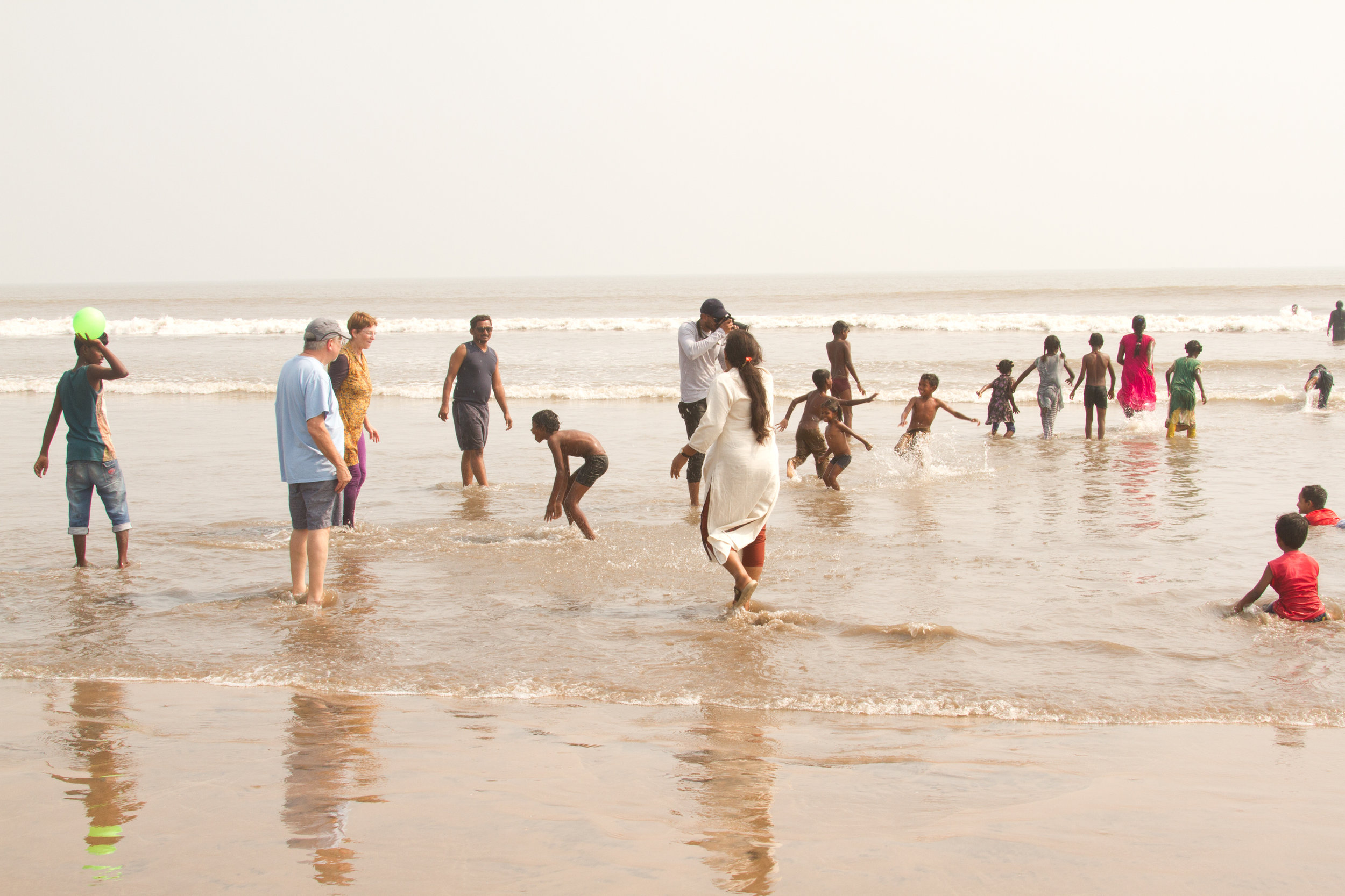 Some of the 60 orphans that people in the church sponsor.  They were so excited to go to the beach. Most had never seen the ocean, even though its a 90 minute drive.