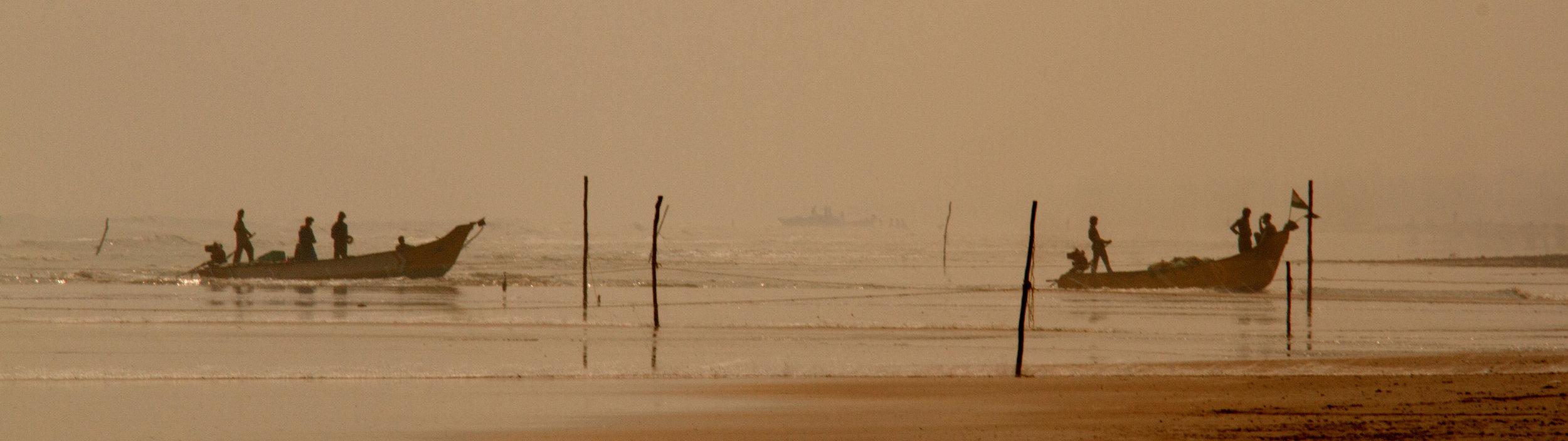 Fishing boats coming home.