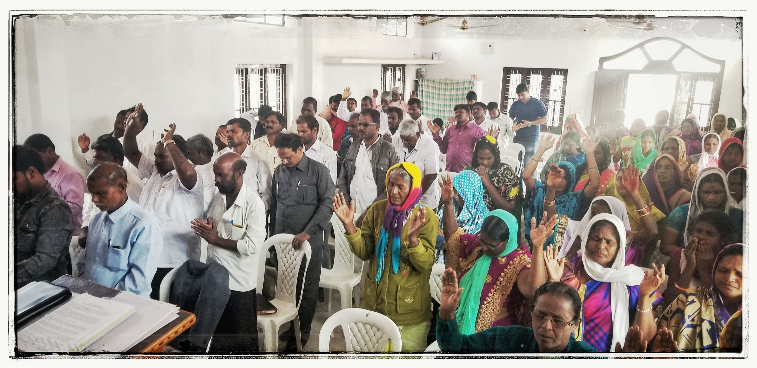 Worship is seriously and lively. Persecution is real in India.  We all spoke at local churches, I gave my testimony 3x of how I became a Christian, my marriage, adoption of my kids and the death of my wife, each for about 15-20 minutes, due to it being translated.