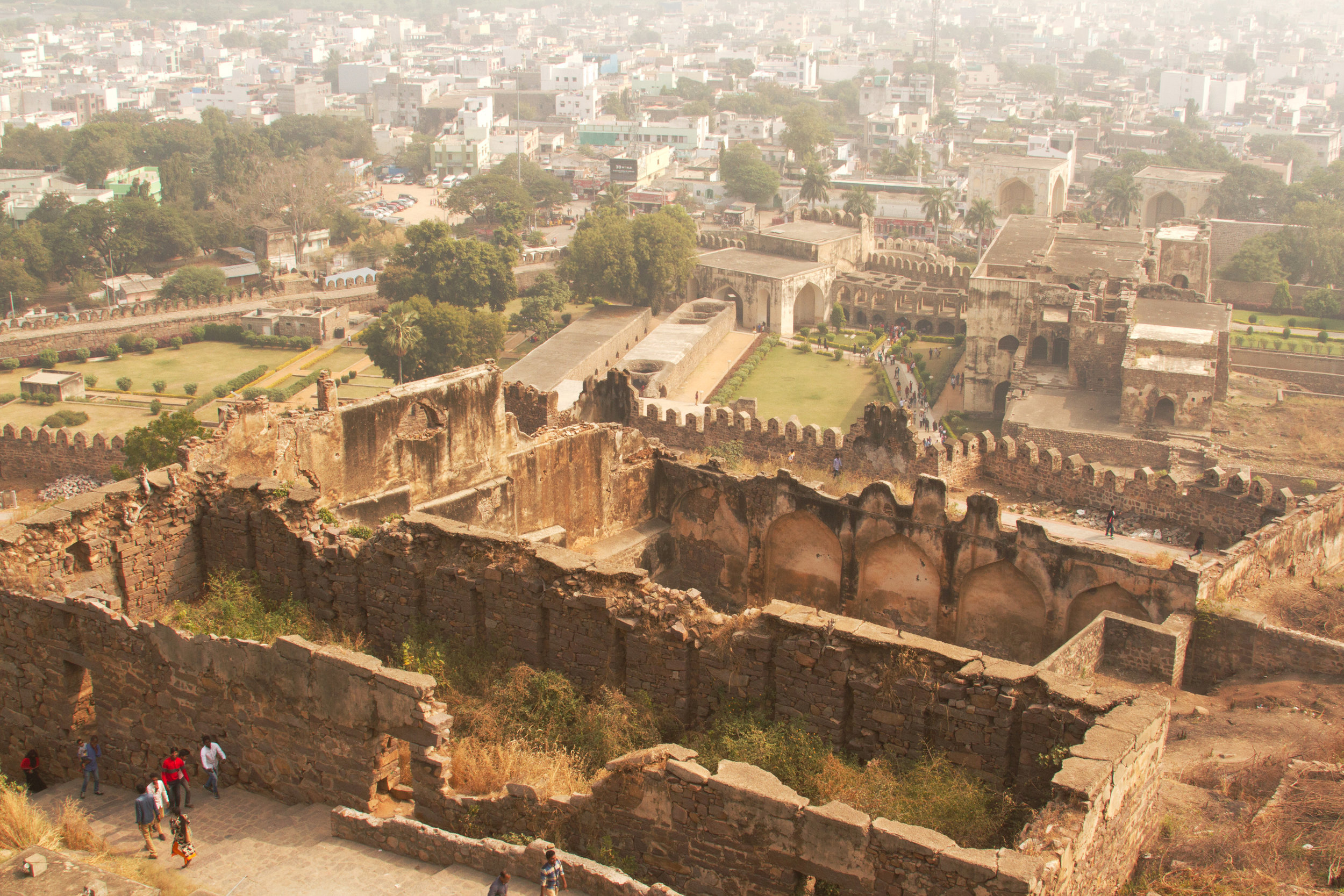This is a view from the top (a fort was 1st constructed here in 1143), At the bottom it was a huge palace with 3 levels for the queens and concubines. (Over 2,500 women.)
