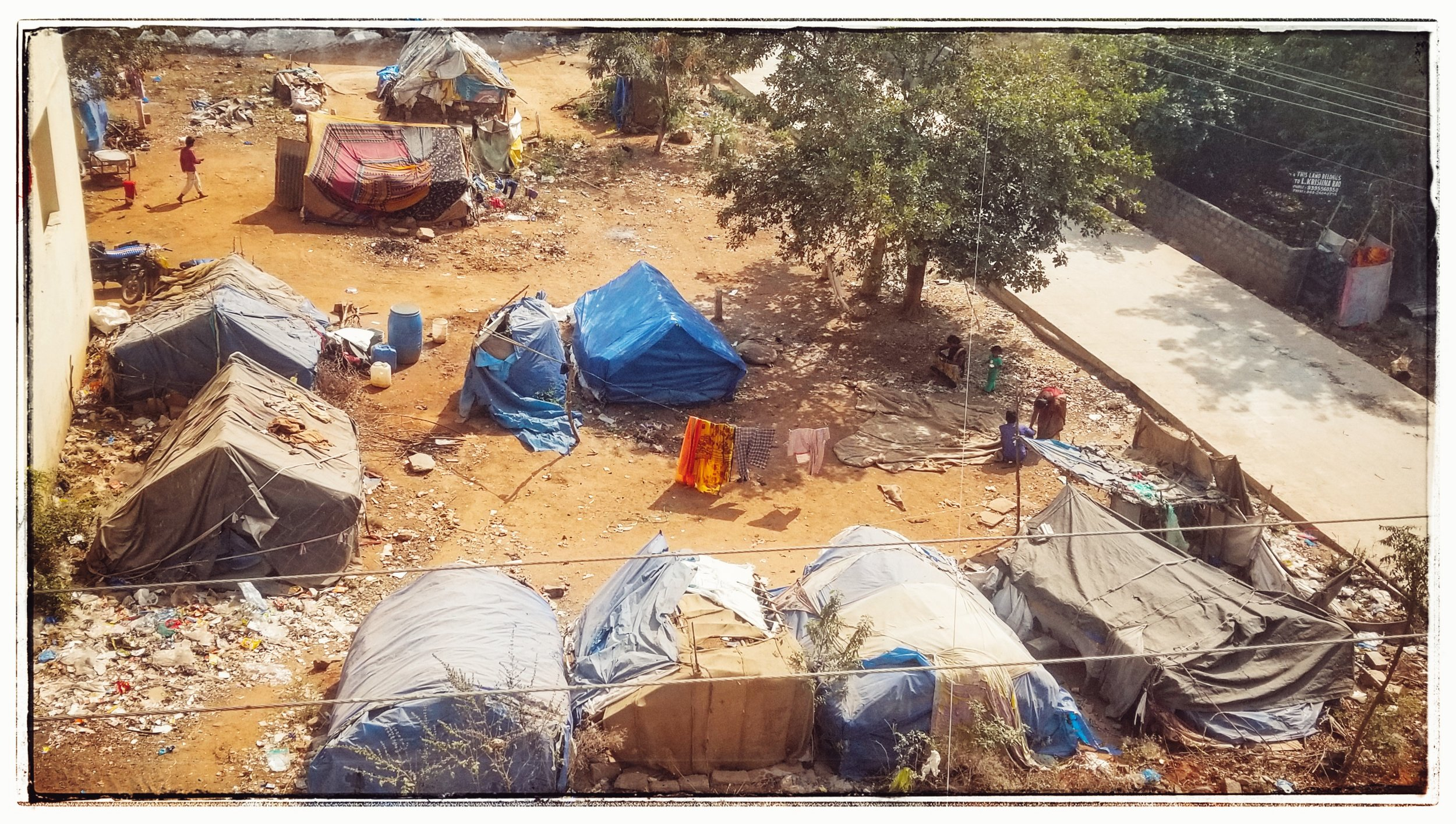 Despite the high tech, untouchable camps are prevalent. It's estimated that 10% or more of the population are in this demographic.
