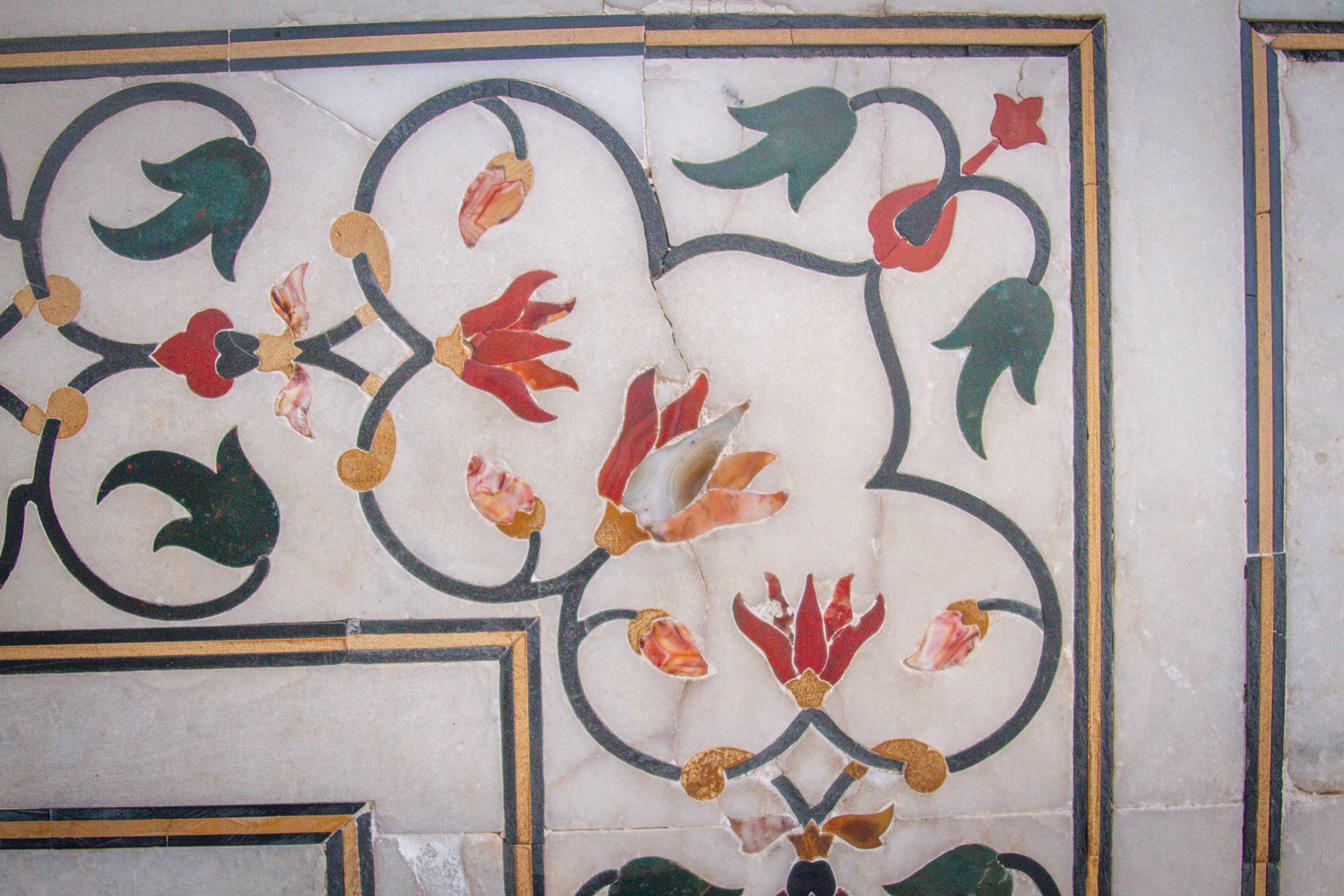 Some of the intricate stone inlays into the marble. So beautiful and artistic.