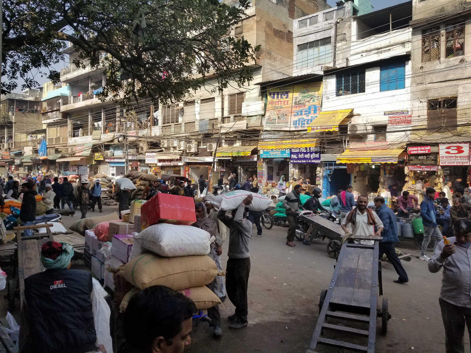 Chandni Chowk market is super busy.
