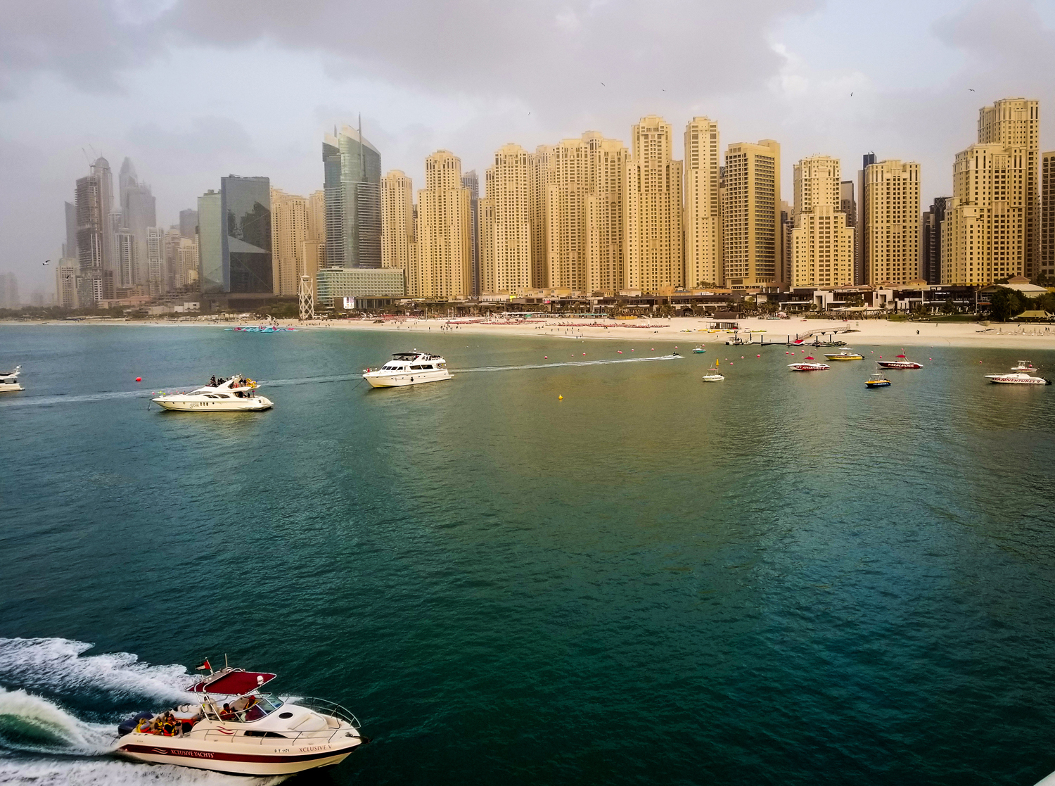 UAE Dubai Blue Waters island Jumeriah Beach  of Dubai Perian Gulf.
