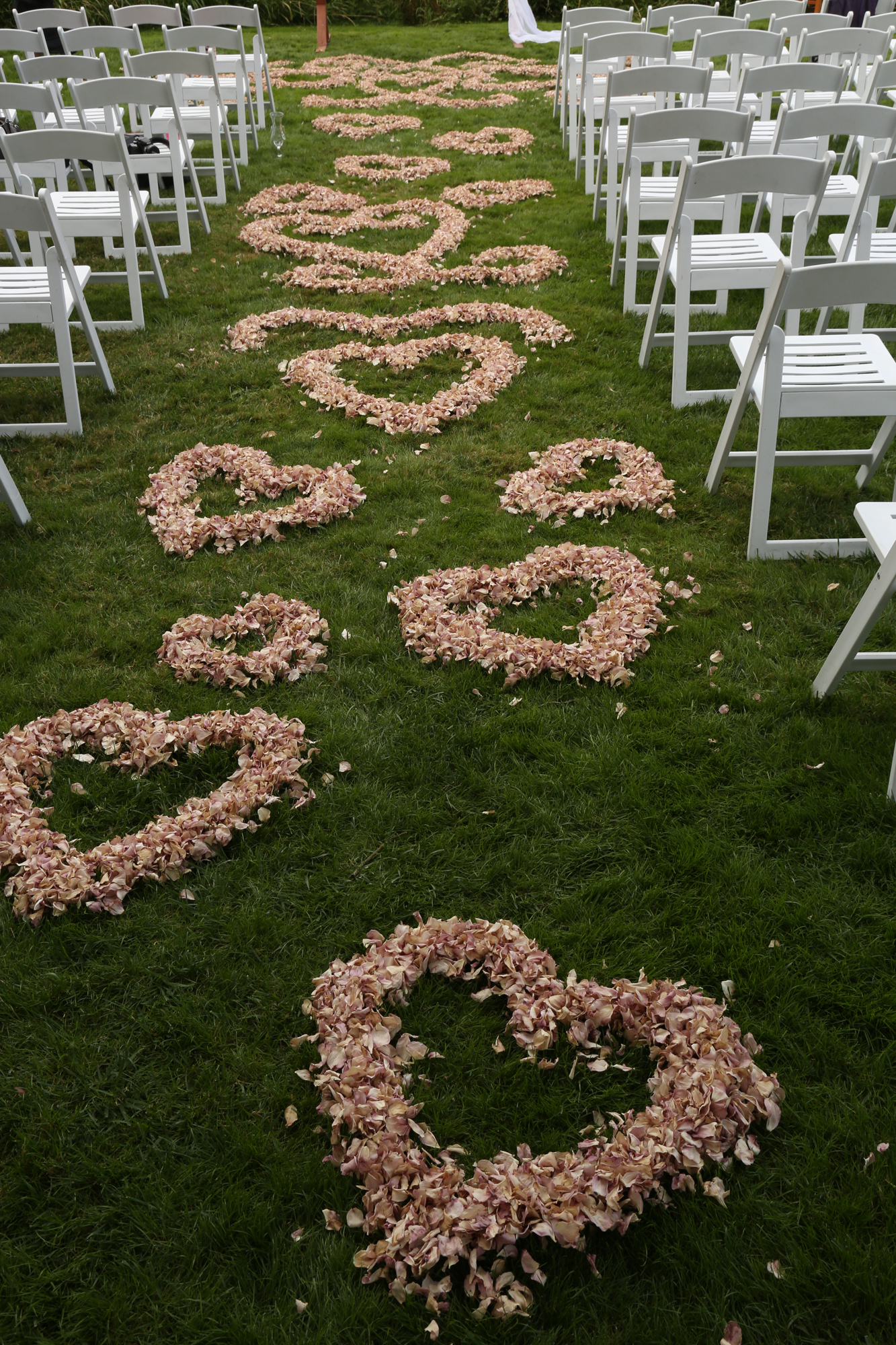 wedding hearts with blossoms Oregon
