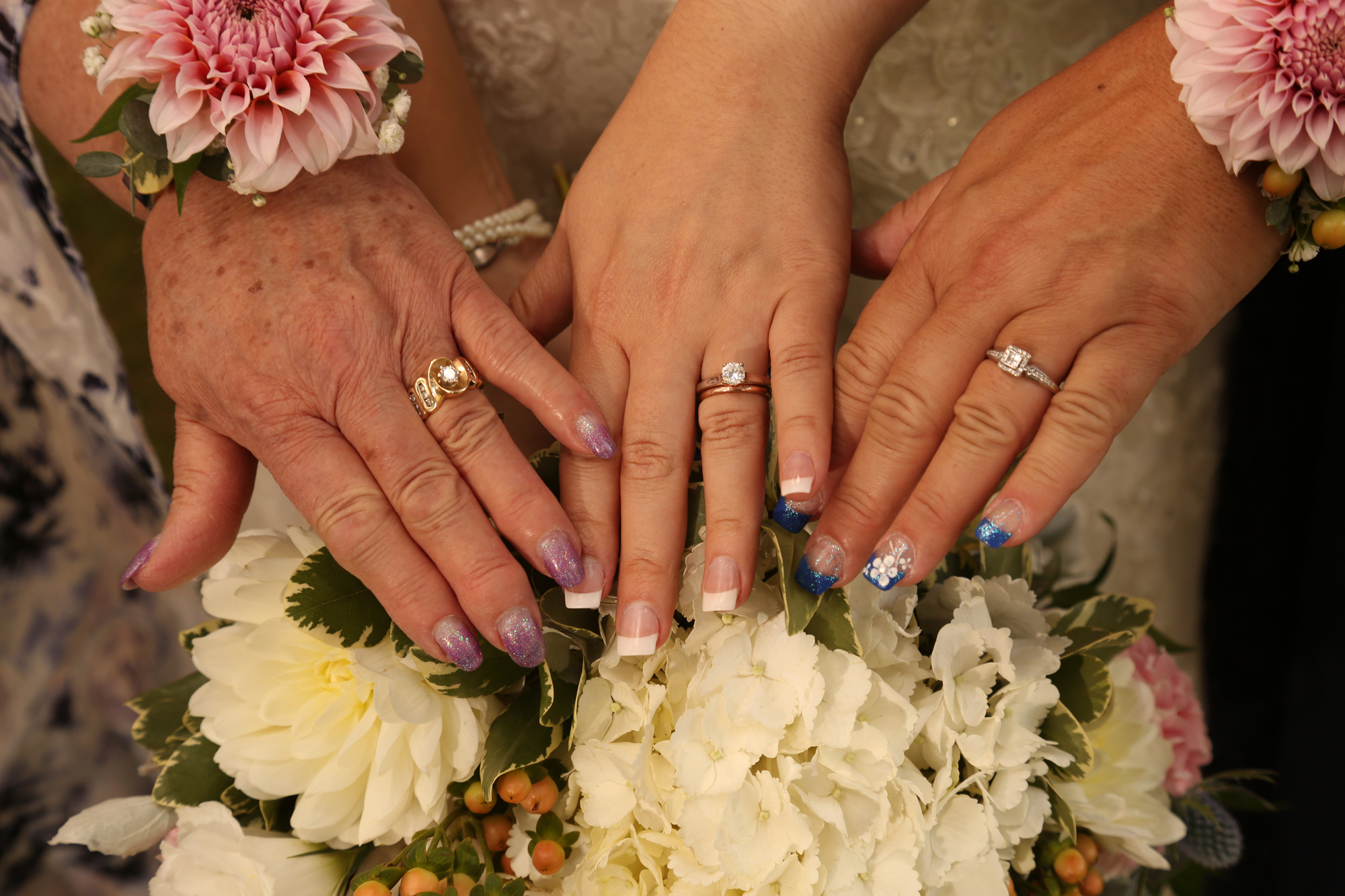 3 generations of women and rings