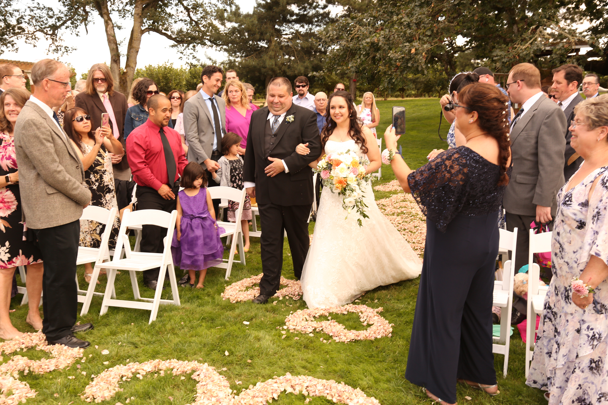 down the aisle wedding photographs