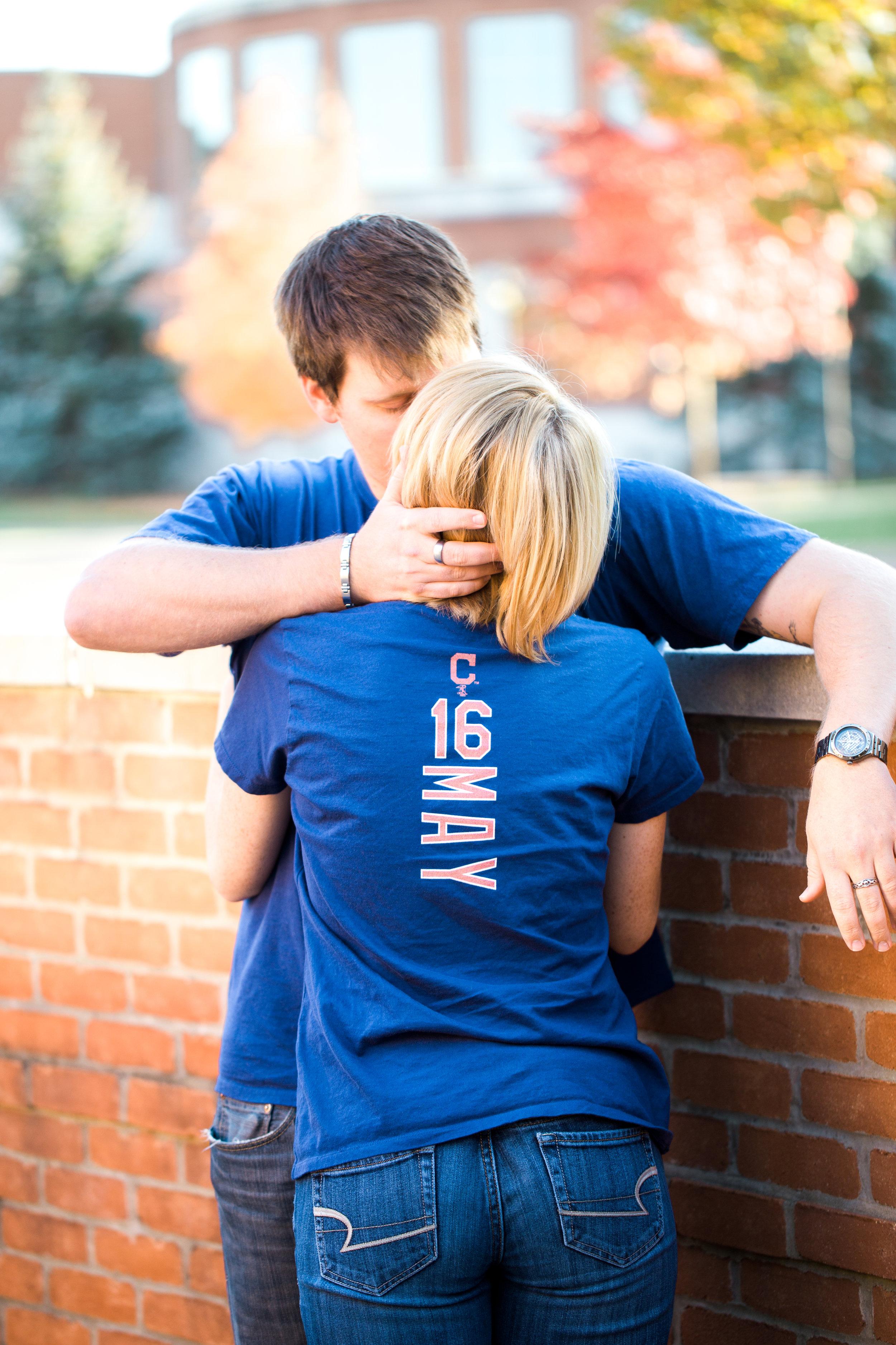 Fall University Engagement Photos by Cleveland Wedding Photographer Matt Erickson Photography