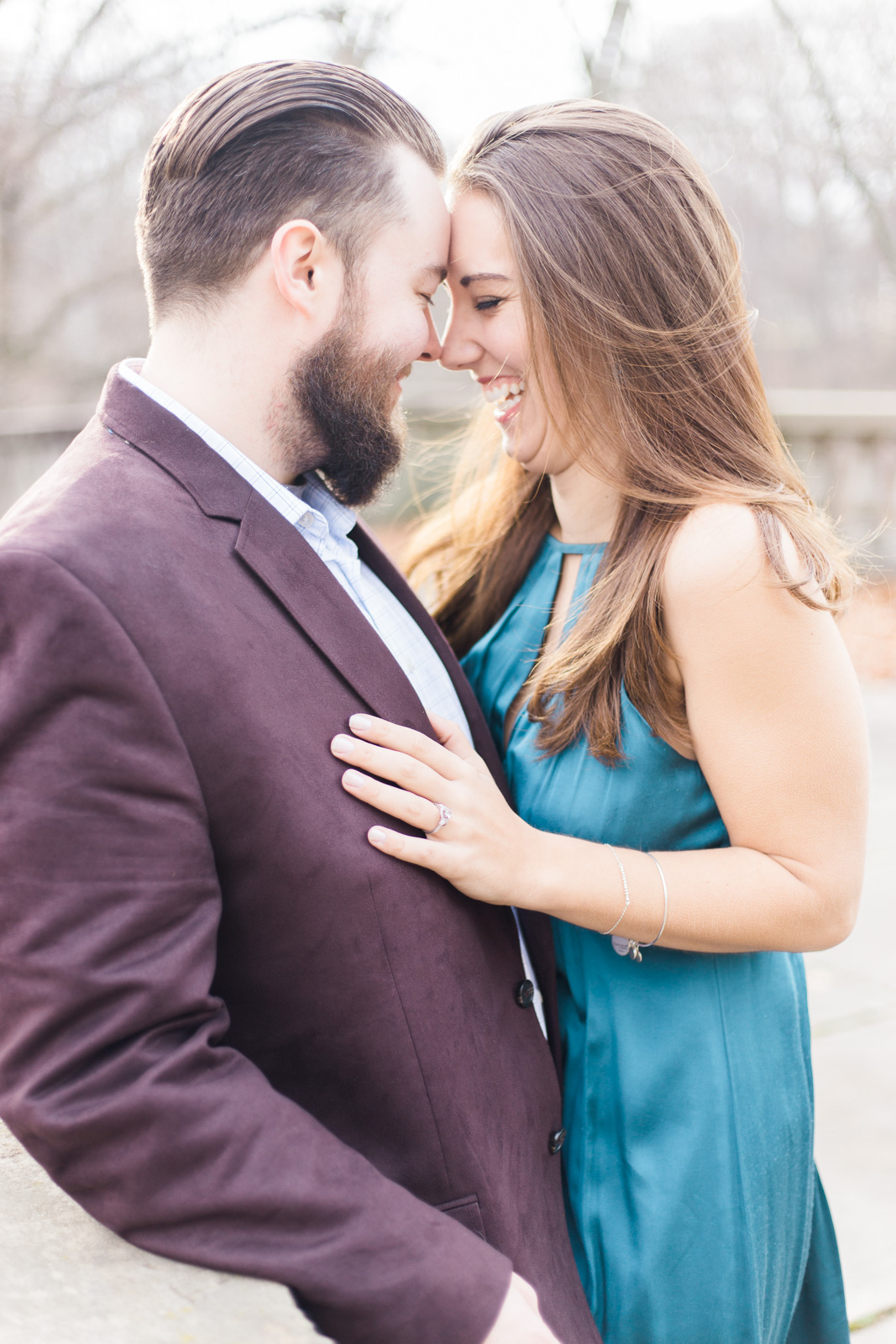Little Italy and Cleveland Cultural Gardens Engagement Session by Cleveland Wedding Photographer Matt Erickson Photography