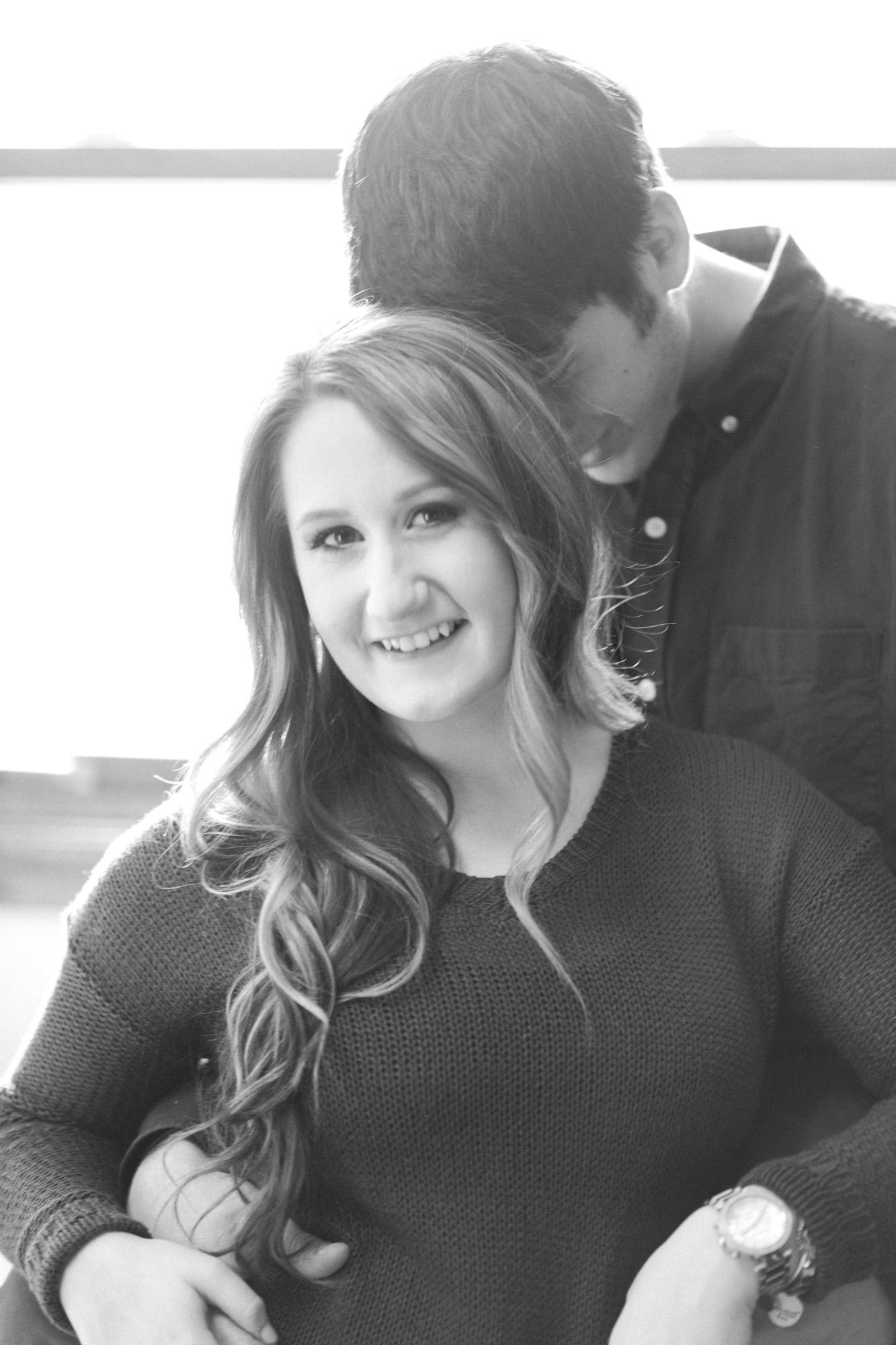 Lifestyle Engagement Photos in Wooster, Ohio by Cleveland Wedding Photographer Matt Erickson Photography