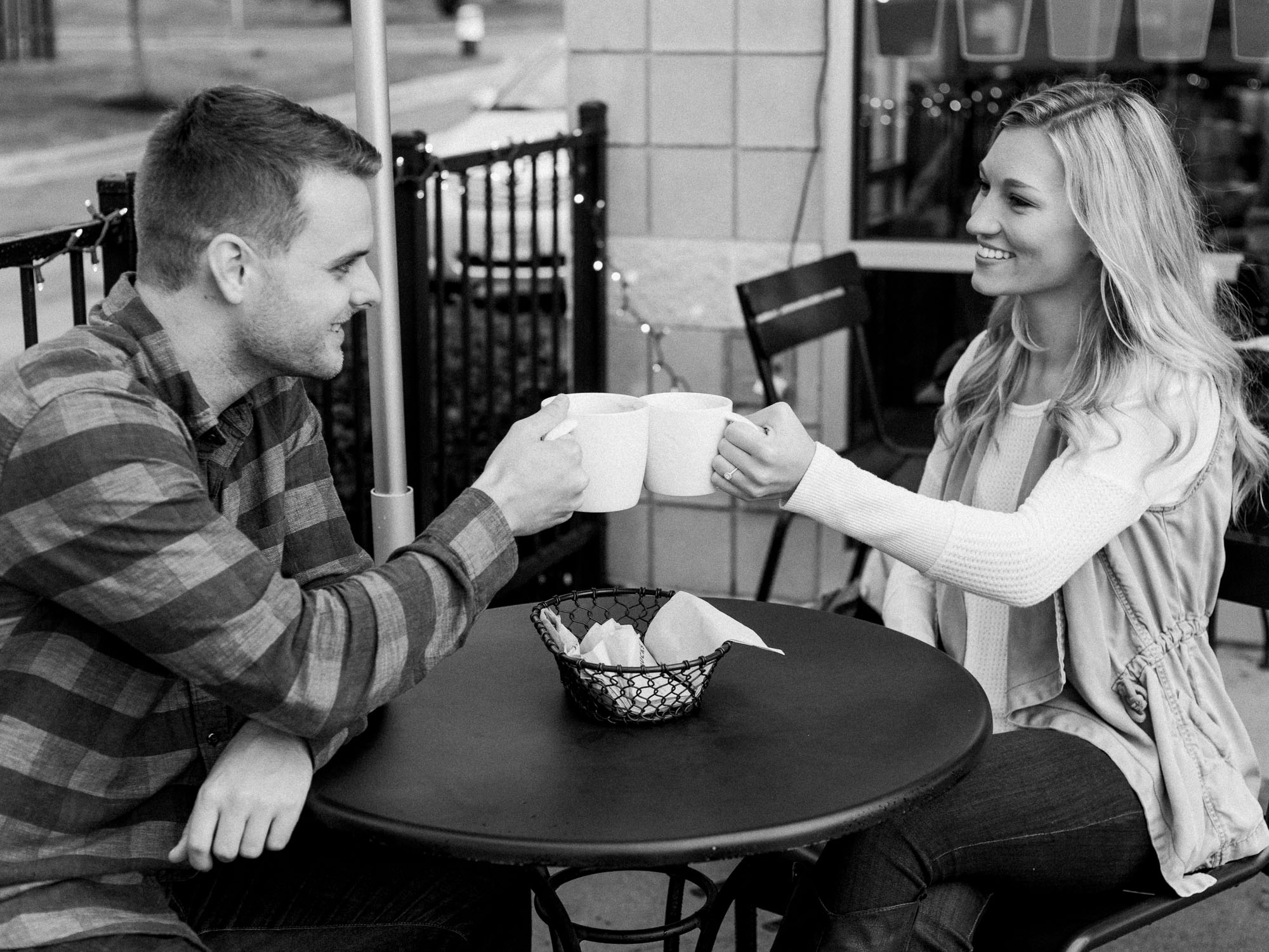 Starbucks Engagement Session in Wooster Ohio by Cleveland Wedding Photographer Matt Erickson Photography