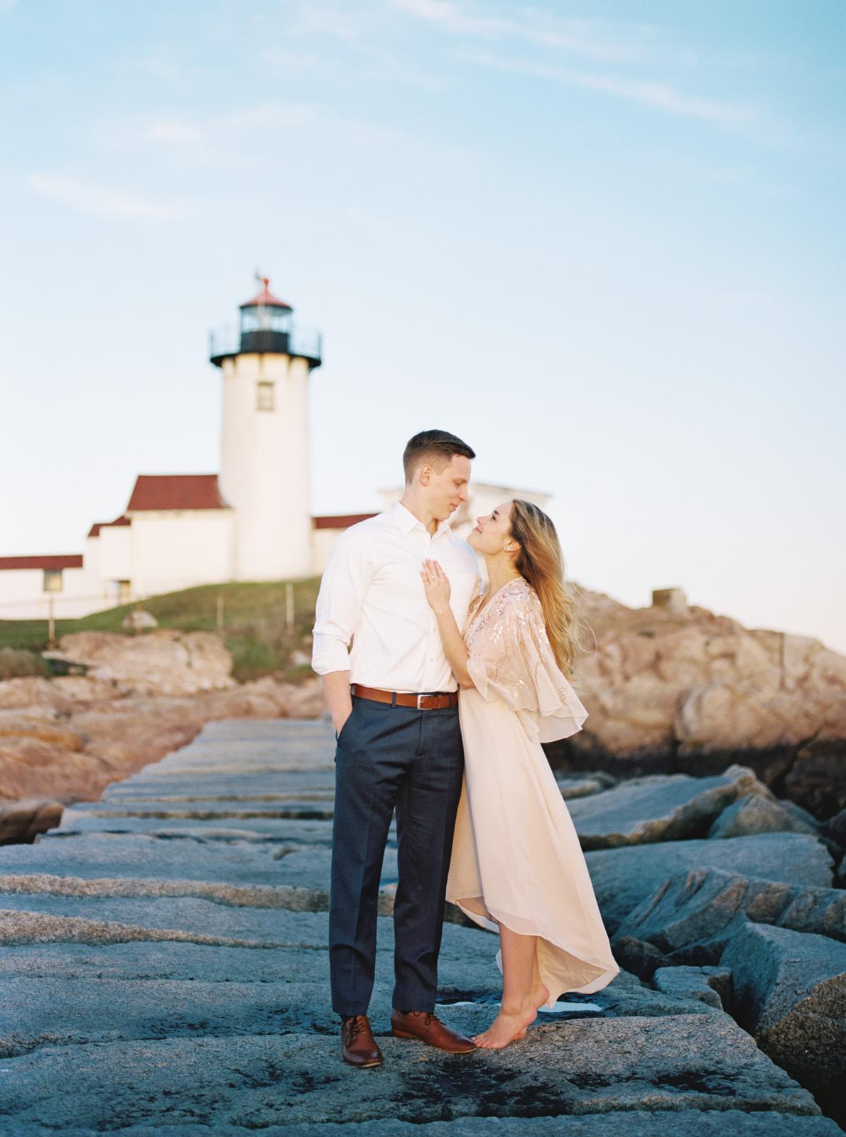 Eastern Point Lighthouse Destination Engagement Session-56.jpg