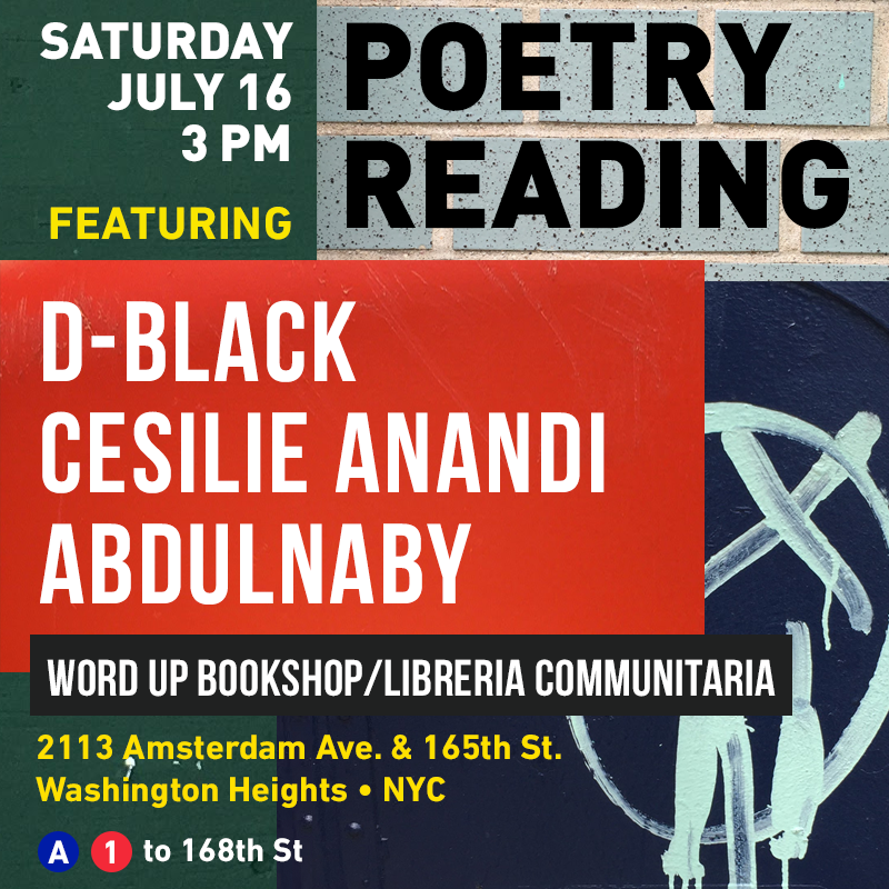 July 2016: Word up bookstore. washington heights. NYC.