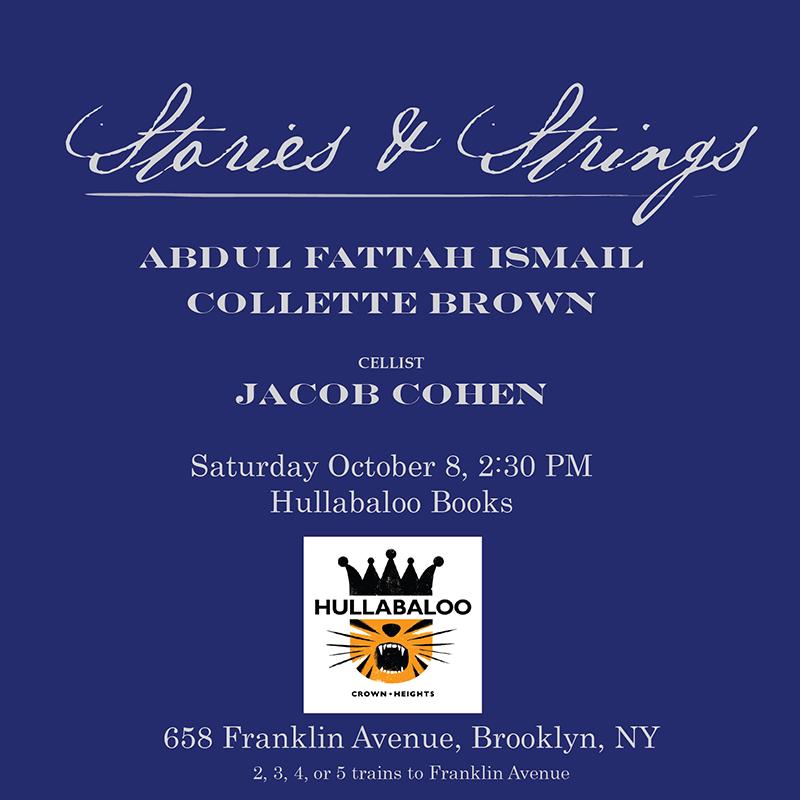 October 8 2016: Hullabaloo Books. Crown heights. Brooklyn, New york