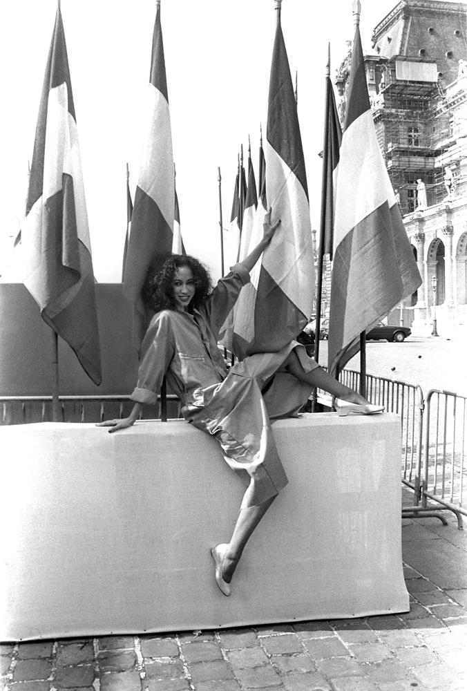 Pat Cleveland, Cours du Louvres, 1982