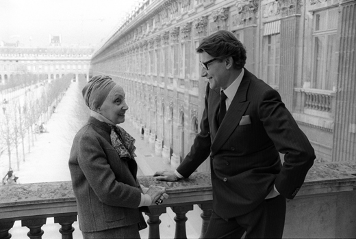 Madame Gres and Yves Saint Laurent, 1984