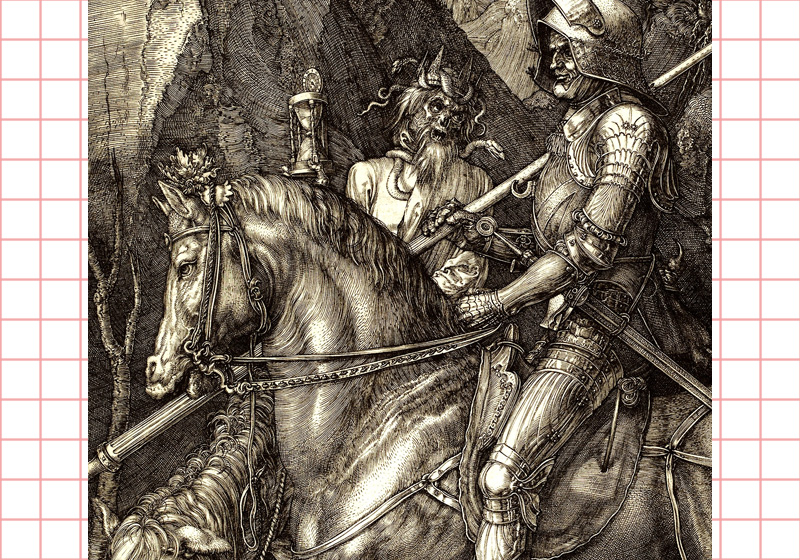 """Knight, Death and the Devil"" (detail) by Albrecht Dürer"