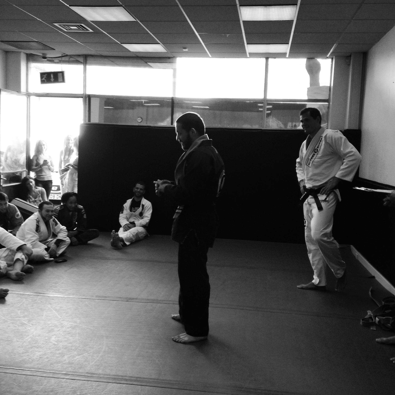 Lorenzo gets his black belt