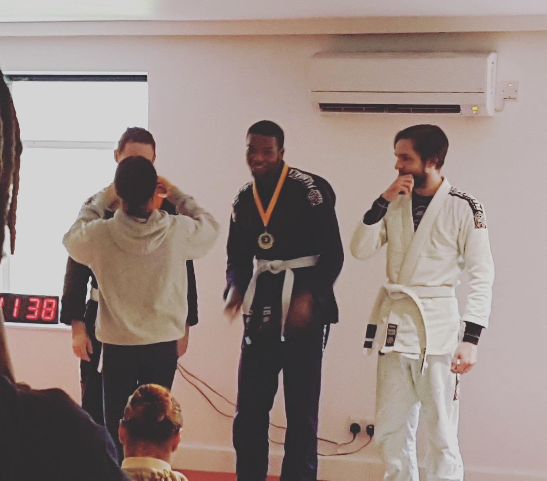 Jamal Gets gold at Hillingdon