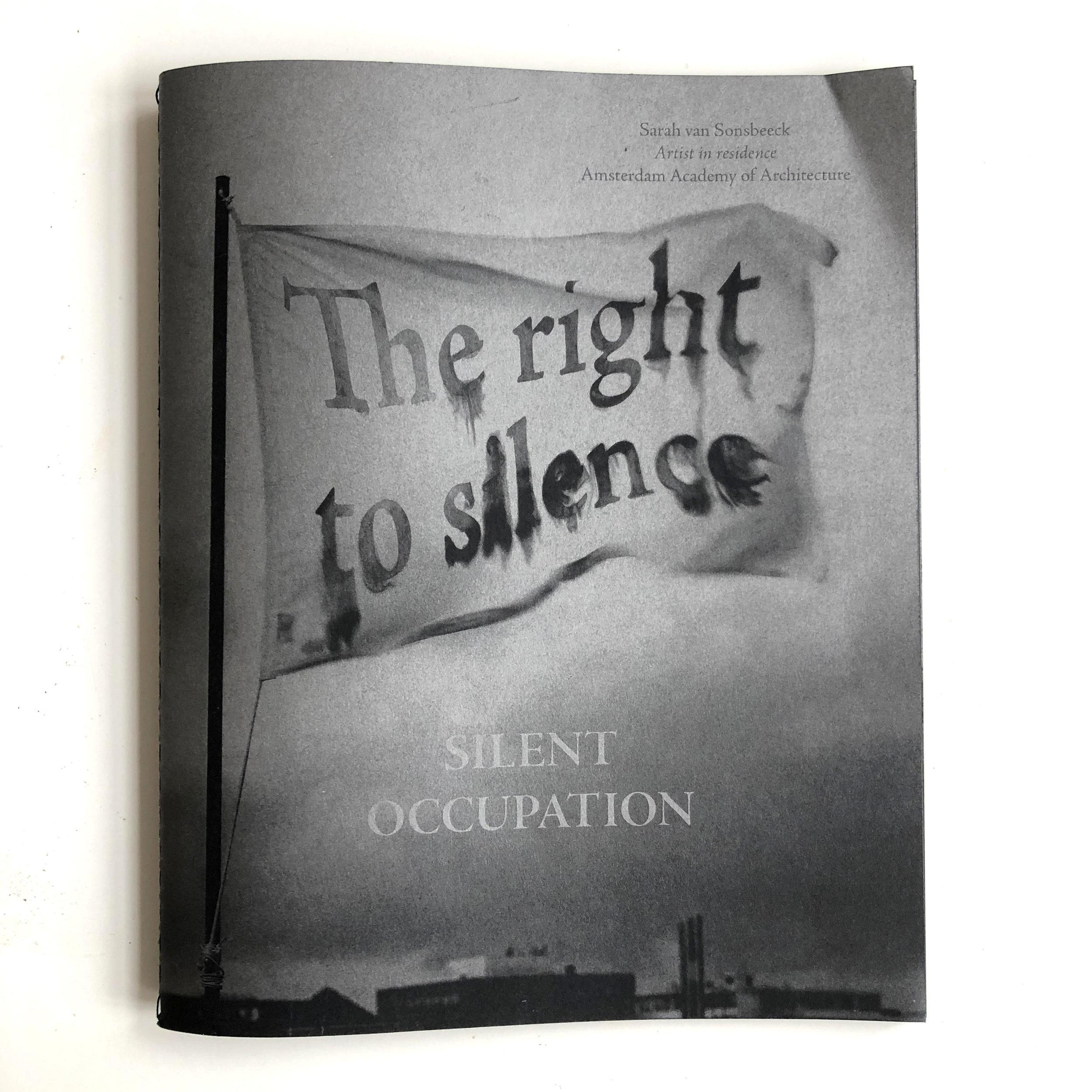 Silent Occupation artist book