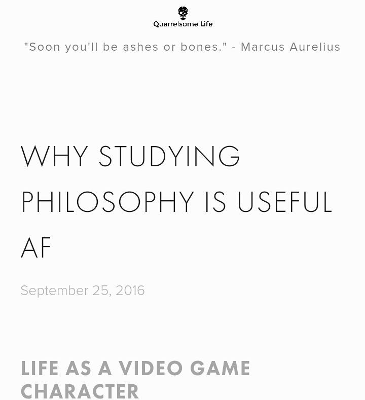 WHY STUDYING PHILOSOPHY IS USEFUL AF