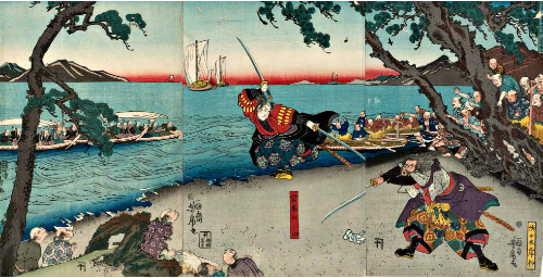 (All Credit to  historyoffighting.com  for picture.)  Musashi murking an opponent in a famous duel.