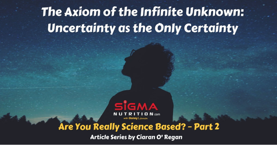THE AXIOM OF THE INFINITE UNKNOWN: UNCERTAINTY AS THE ONLY CERTAINTY (ARE YOU REALLY SCIENCE BASED PART 2)