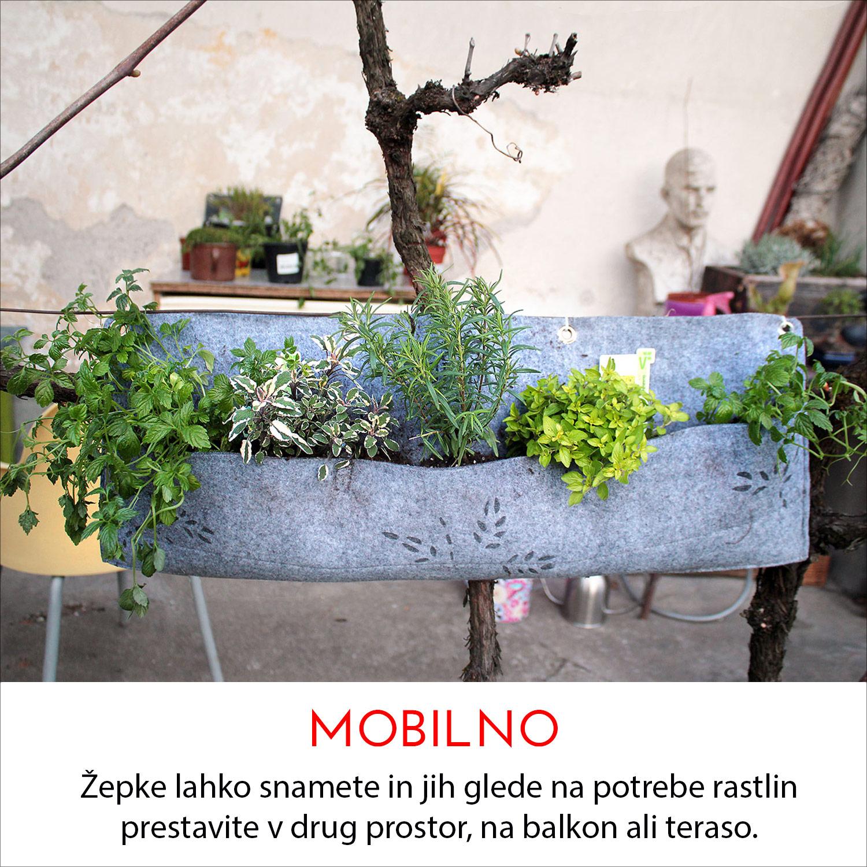 mobilno- žepki florideja za zelen stene
