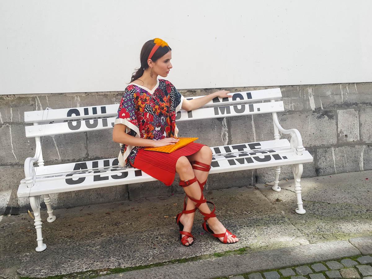 top: Nelizabeta  krilo: Vesna Štih  torbica: Zelolepo  natikači: Kirila shoes  obroč: Firma by Sanja  uhani: Mom jewelery