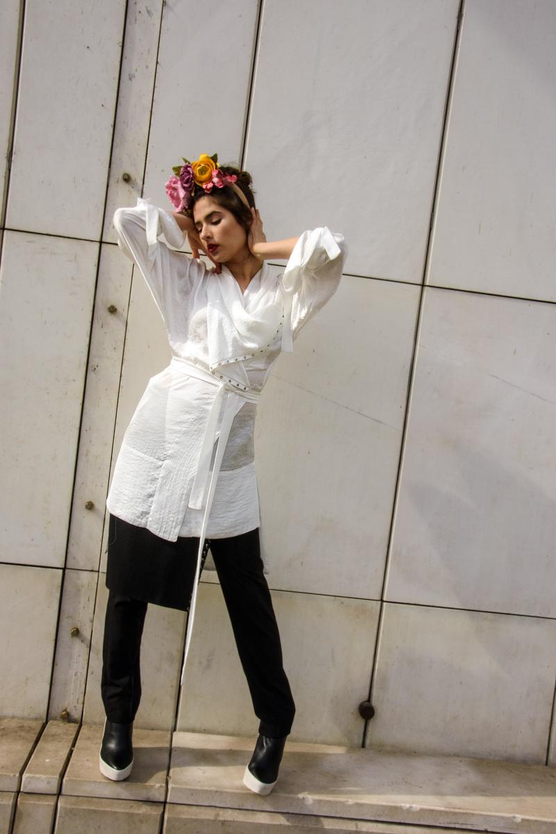 bluza, hlače in suknjič JSP  cvetje Moimoi