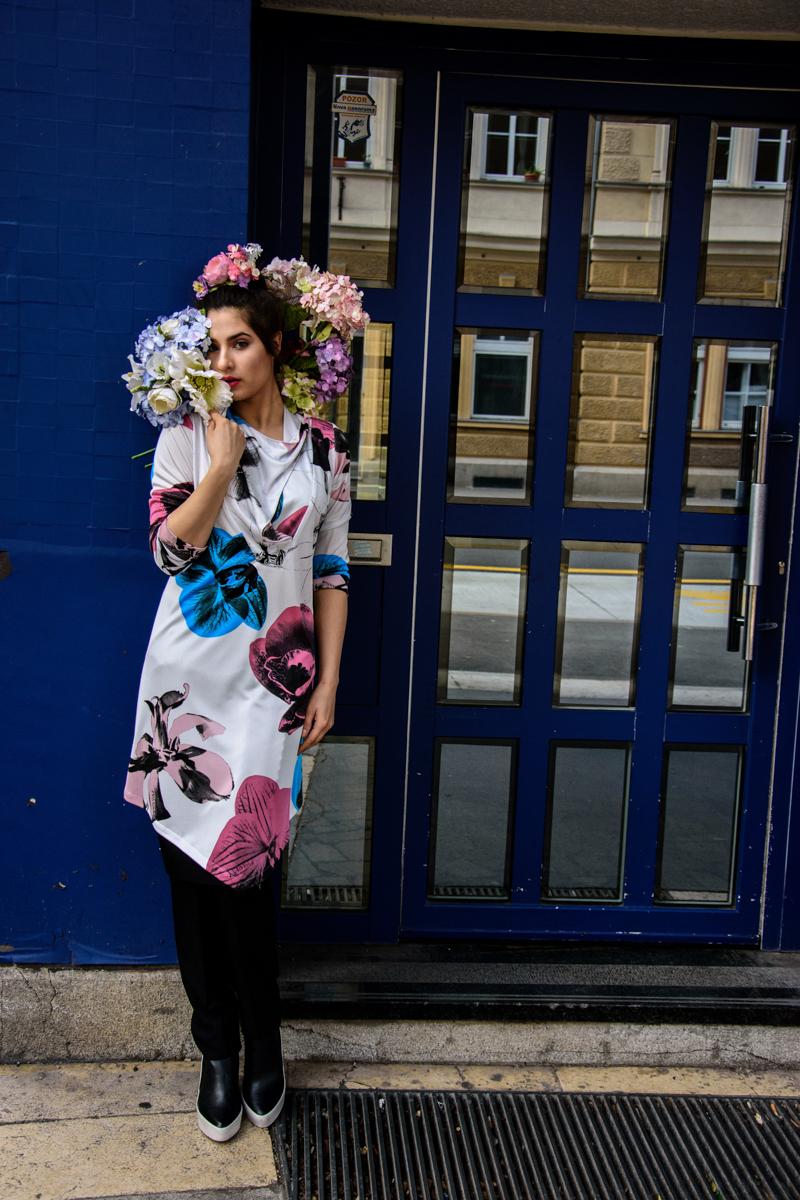 obleka Princip  hlače JSP  cvetje Moimoi