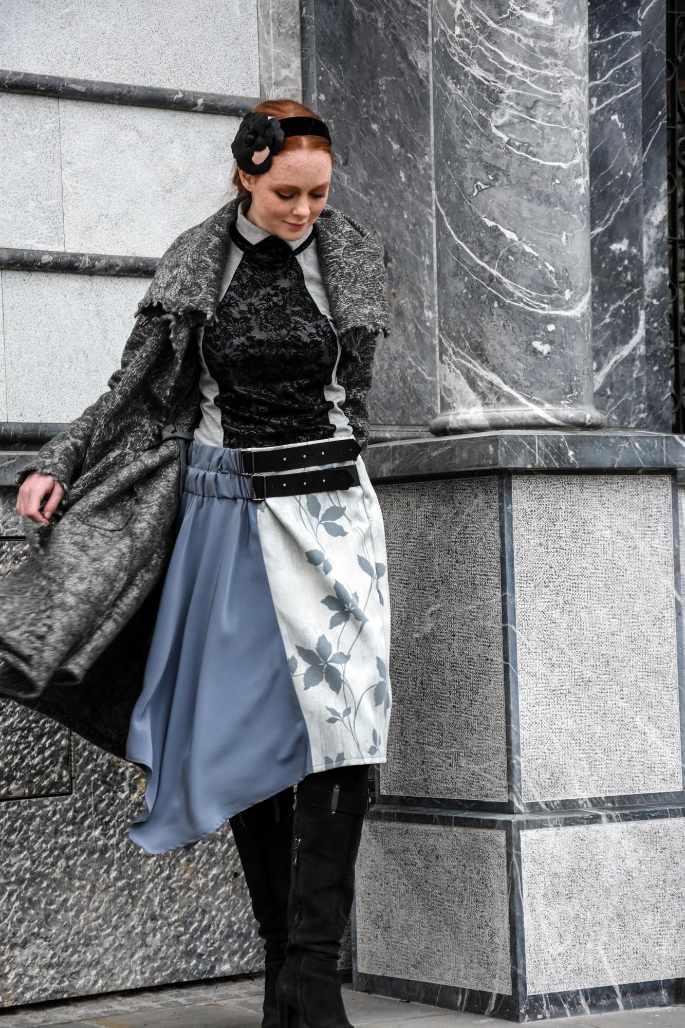 Copy of krilo Nelizabeta/pulover Firma by Sanja/plašč Renata Bedene/obroč za lase Ana Lazovski