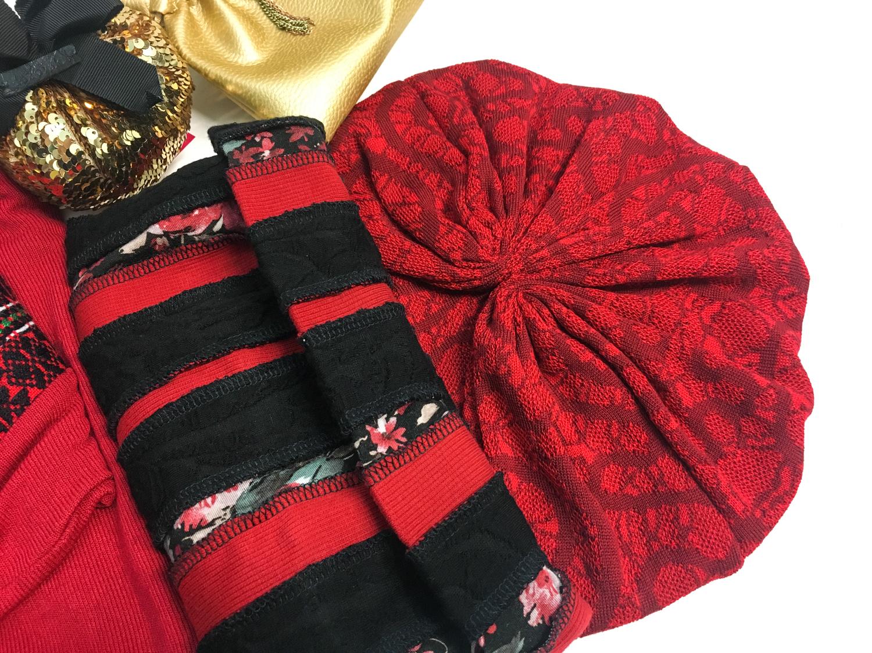 Julija Kaja Hrovat pulover, Firma šal ovratnik, Baraga turban, Lazovski bunka obesek, My Molly mošnjiček