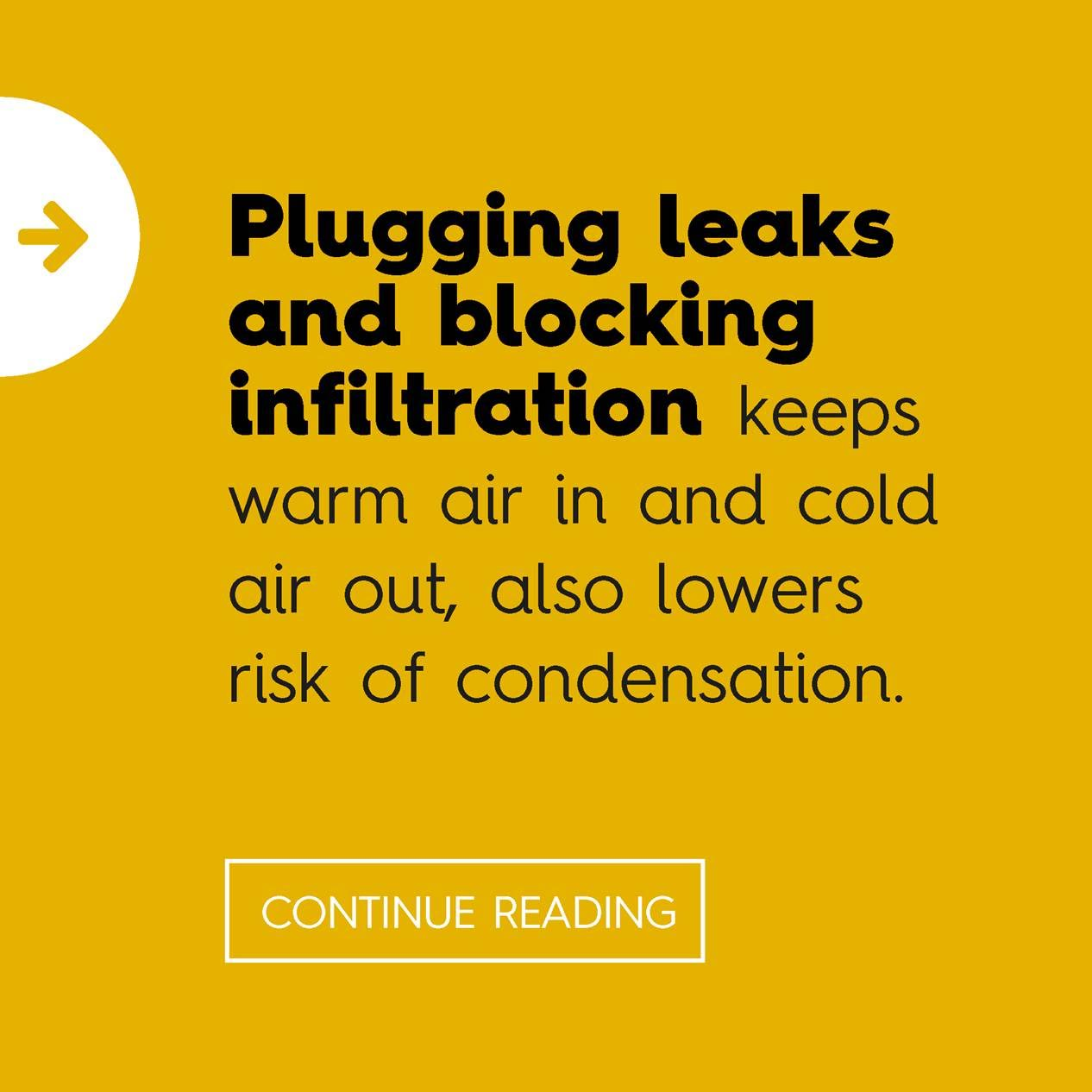 Plugging leaks and blocking infiltration
