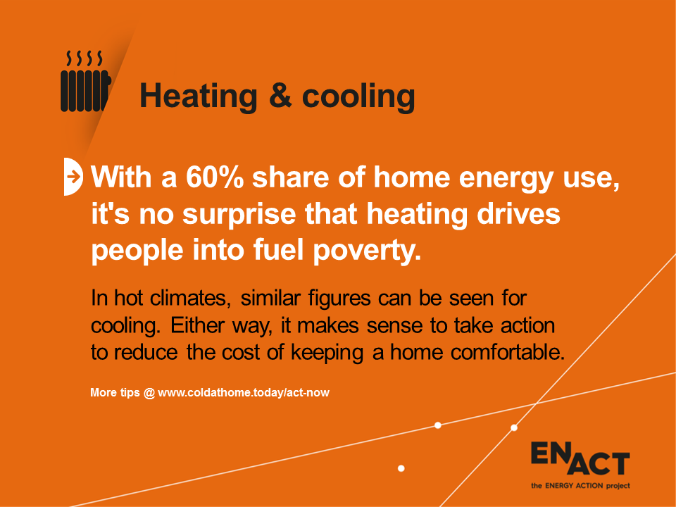 Heating drives people into fuel poverty.