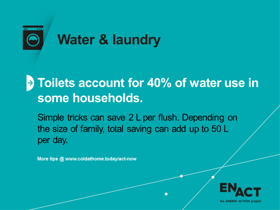 Toilets and water consumption in the home.