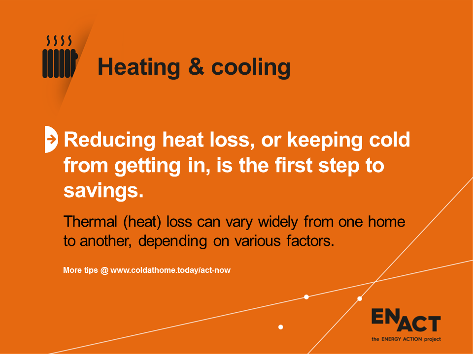 Reduce heat loss with insulation.