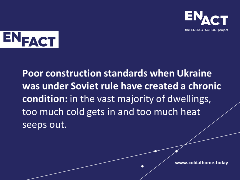 Poor construction standards in Ukraine pushed people into fuel poverty.