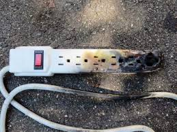 Burnt power strip