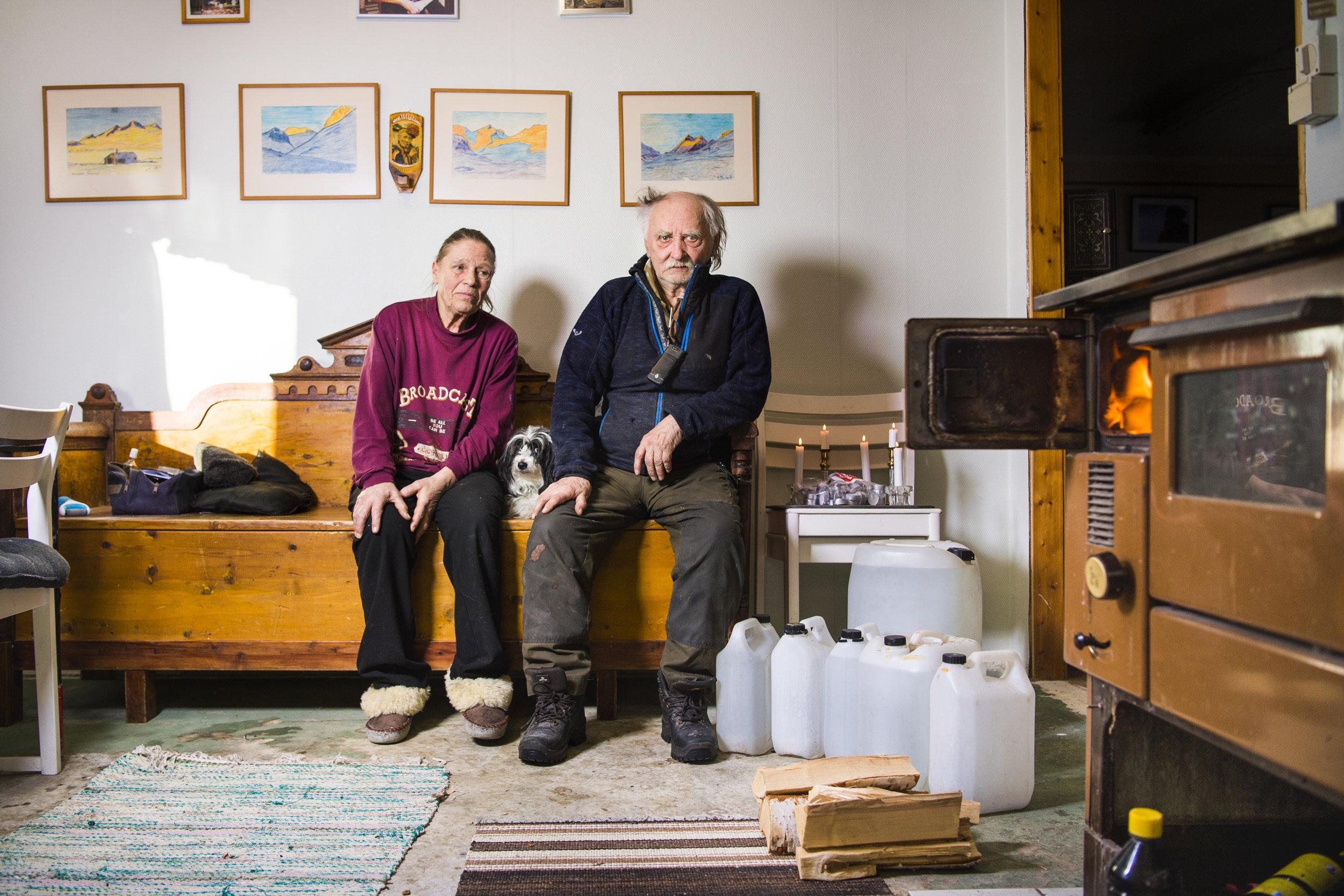 Jokkmokk, Sweden • Margareta and Lars Kuhmunen, herders.