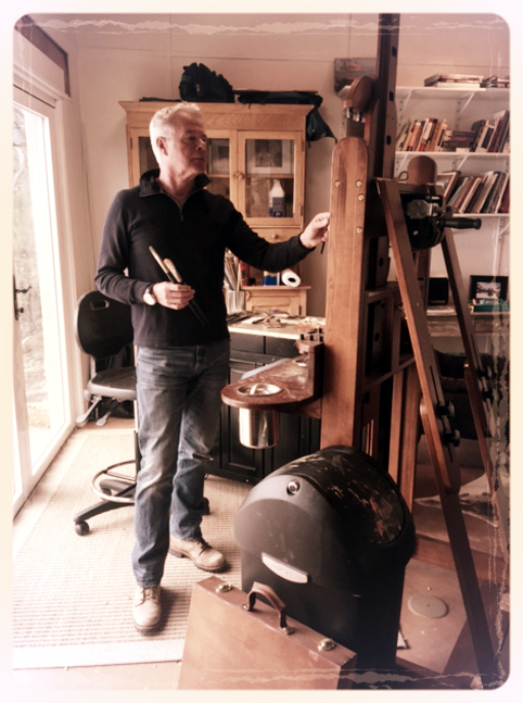 Weber in his Santa Fe studio.