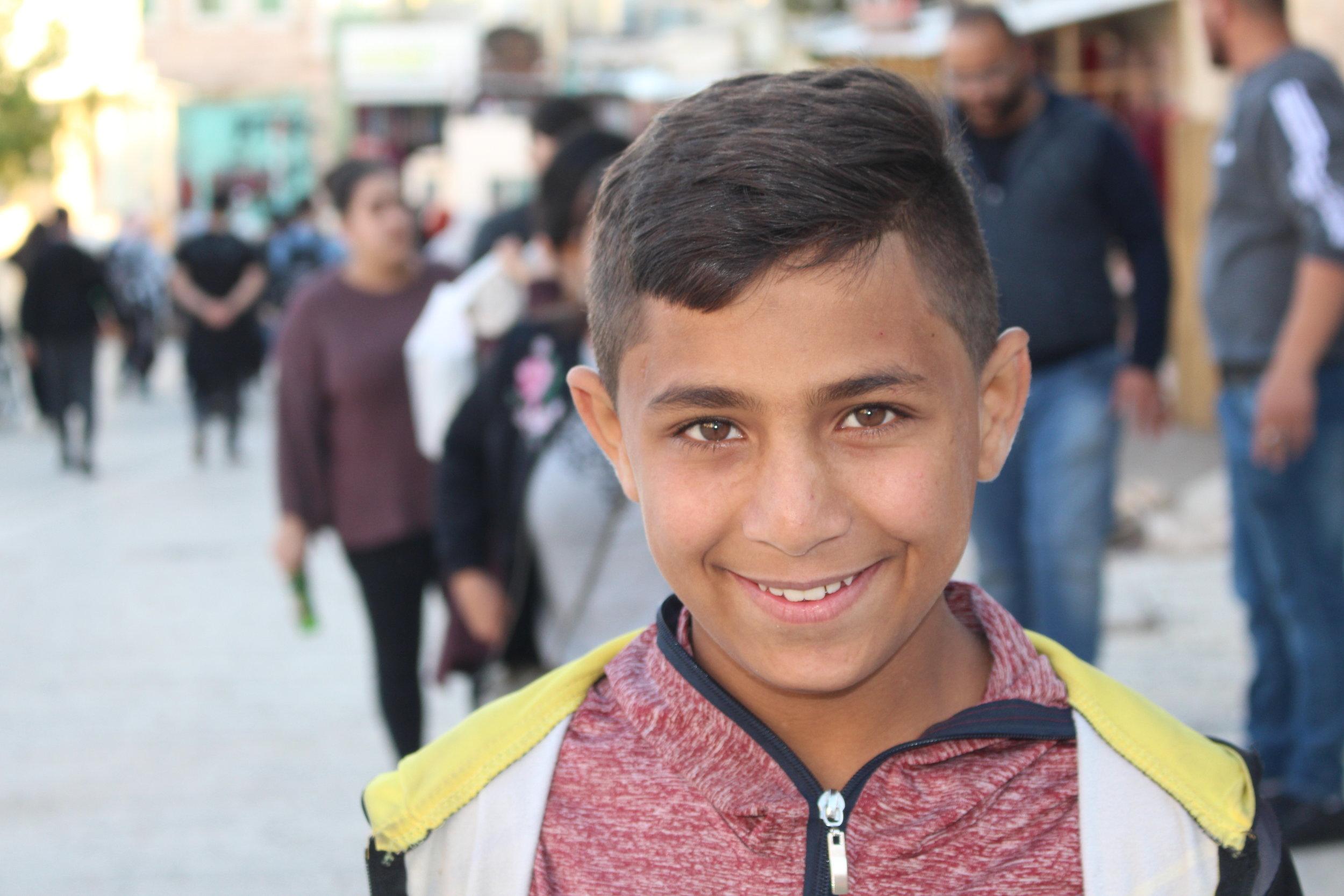 Ondanks de bezetting, een mooie lach (Hebron)