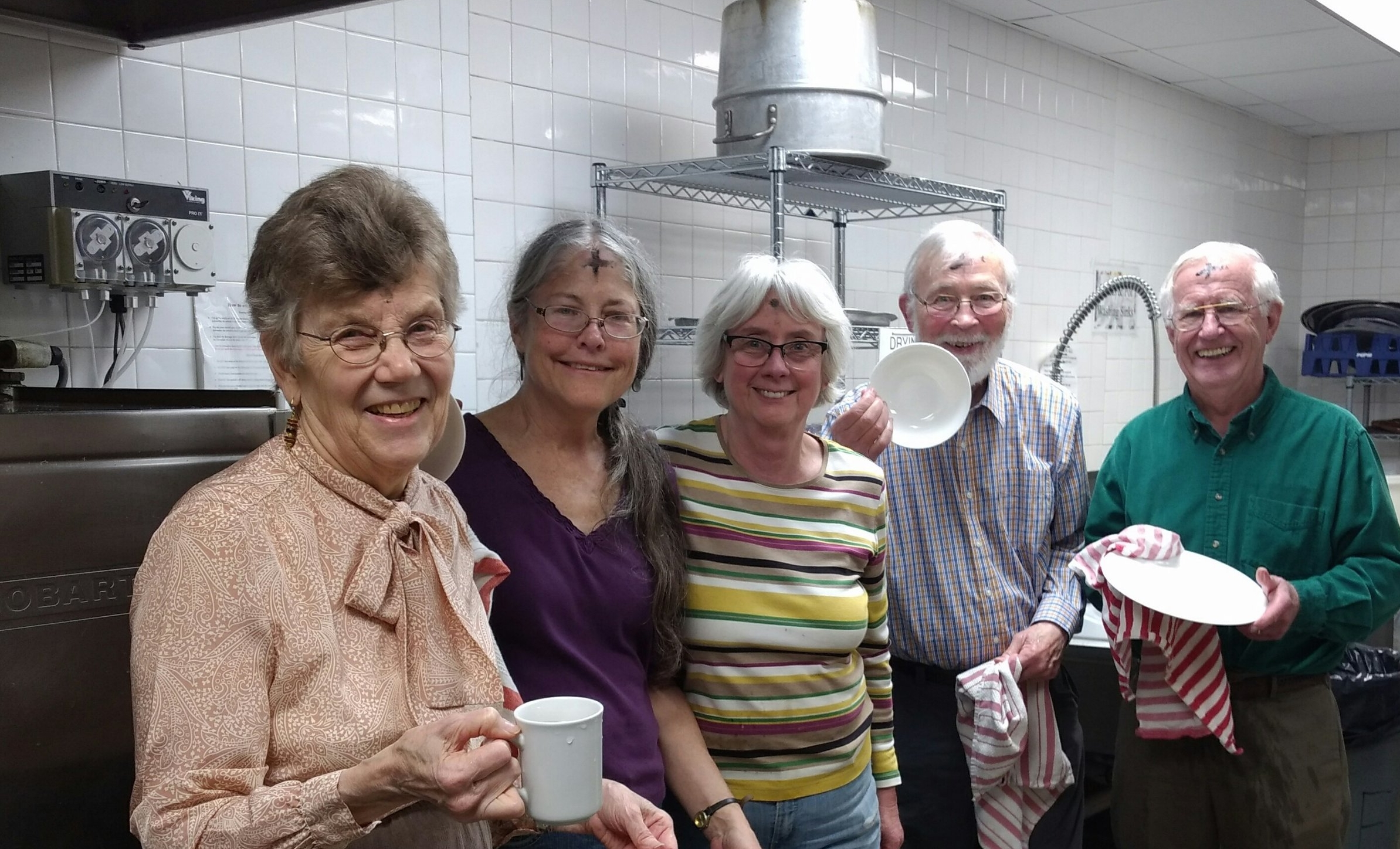 ~Thank you Esther, Ann, Cindy, Len & Dick for dishwashing on Ash Wednesday~