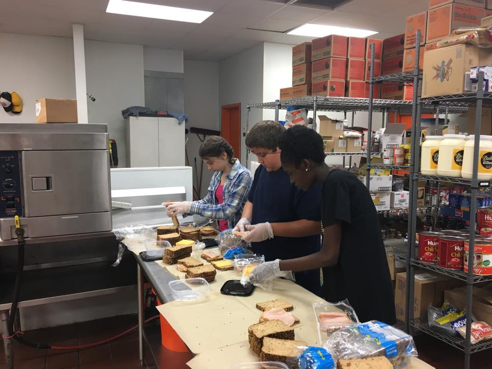 Making lunch at the Veteran's Restoration Quarters 2017