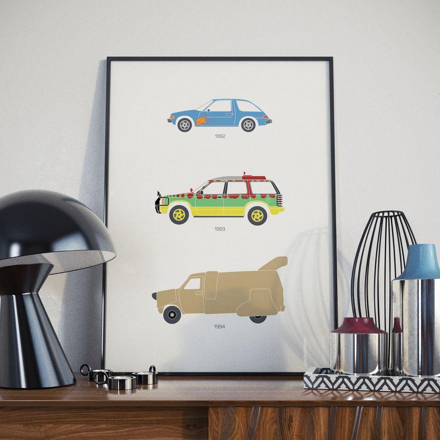 90's Moive Car Print Black Lamp Lifestyle - Rear View Prints.jpg