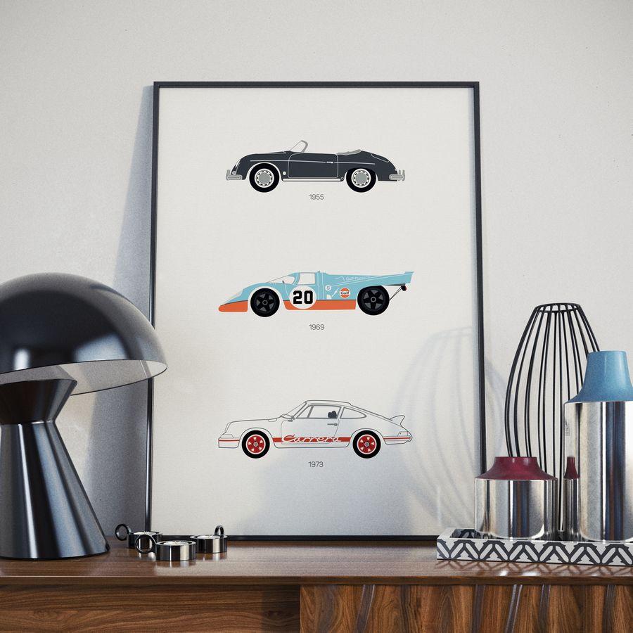 Porsche Print Black Lamp Lifestyle 1 - Rear View Prints.jpg