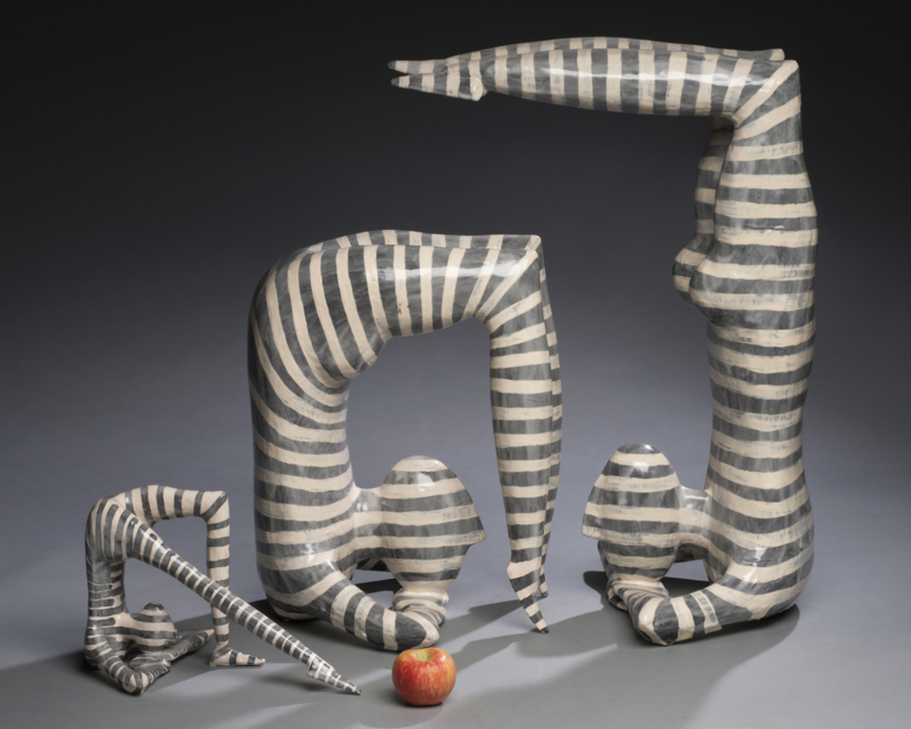 Jack Charney - http://www.jackcharney.comHandformed polychromatic functional and sculptural ceramic art created using a series of slumped and humped forms that are manipulated assembled and multifired for desired effect and glaze density
