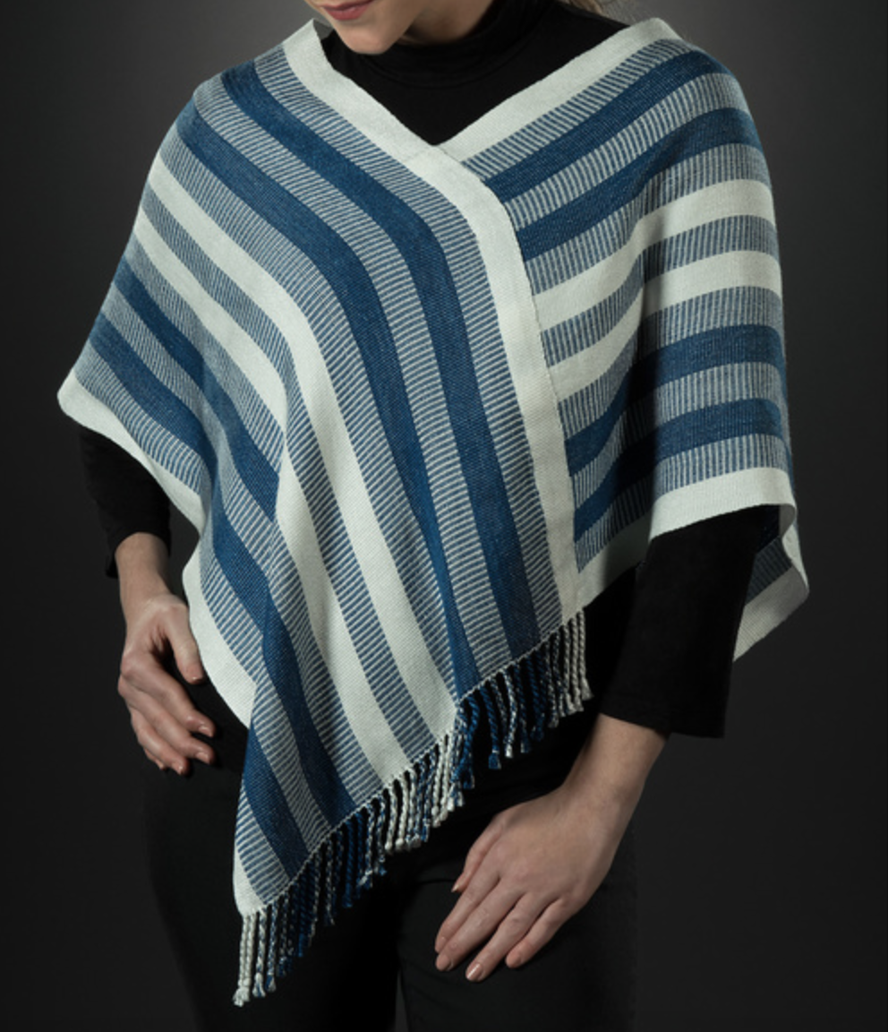 Heather Henke - Hand-dyed and hand-woven wraps and ponchos with a focus on natural colors.